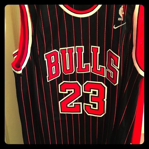 hot sale online 6fe1c 882d4 Jordan Chicago Bulls pinstripe basketball jersey